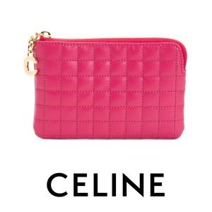 Celine Pink C Charm Coin Card Pouch NWT